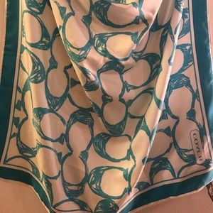 Coach Accessories - Blue and White One Size Coach Scarf